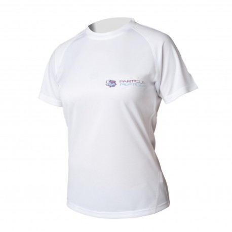 Women's T-shirt Particle Peptides  - white
