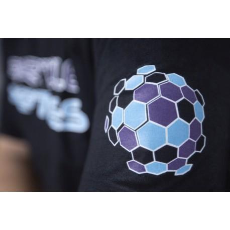 Women's T-shirt Particle Peptides  - black